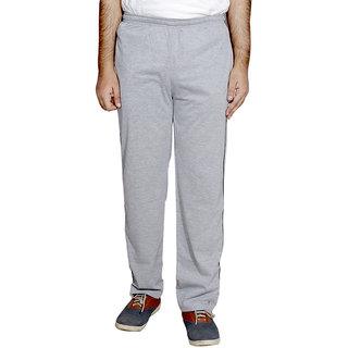 Indistar MenS Premium Cotton Grey Lower With 1 Zipper Pocket And 1 Open Pocket