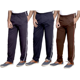 Indiweaves Men'S Premium Cotton Lower With 1 Zipper Pocket And 1 Open Pocket Pack Of -3