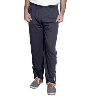 Indistar MenS Premium Cotton Blue Lower With 1 Zipper Pocket And 1 Open Pocket