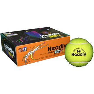 Headly Cricket Tennis Ball  Light Yellow(Pack of 6 pcs.)