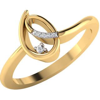 Mani Jewel 14Kt Gold & 0.04 Cts Certified Diamond Rings (Design 1)