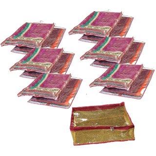 Srajanaa Hanging Saree Cover / Wardrobe Organiser - Set Of 6 + Peticoat cover free