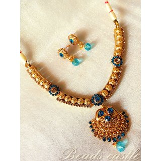Sravani Antique Necklace Set