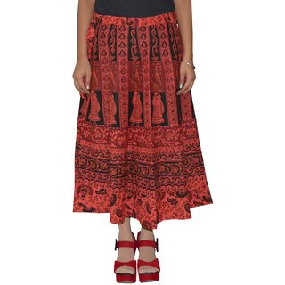 Gurukripa Shopee  Printed Women's Multicolor Wrap Around Skirts GKSWCC-A0148