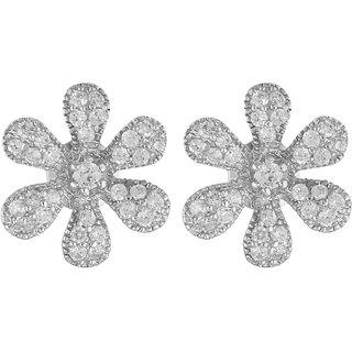 World Of Silver 92.5 Sterling Silver Stud Earrings for Women