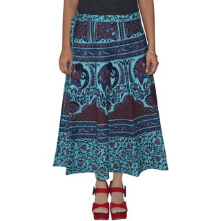 Gurukripa Shopee  Printed Women's Multicolor Wrap Around Skirts GKSWCC-A0150