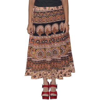 Gurukripa Shopee  Printed Women's Multicolor Wrap Around Skirts GKSWCC-A0155