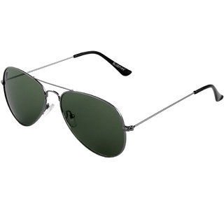 The Blue Pink UV Protected Aviator Unisex Sunglasses (CL-1013Green Lens)