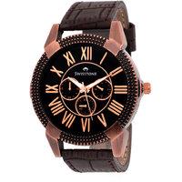 Swisstone GR0024-BLK-CR Black Dial Dummy Chronograph Wrist Watch For Men/Boys