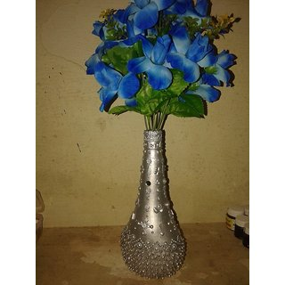 artificial Flower plant with Wooden pot
