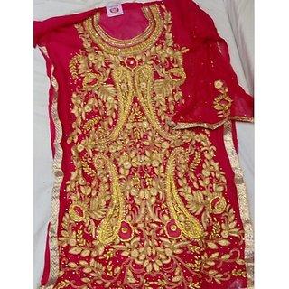 86dca02f6557 Buy Georgett Handwork Suit Online   ₹4000 from ShopClues