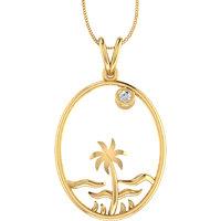 Mani Jewel 14Kt Gold & 0.06 cts Certified Diamond Pendant (Design 18)