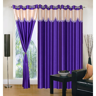 Home Sazz Set of 4 Long Door Eyelet Curtain