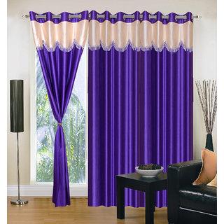 Home Sazz Set of 6 Long Door Eyelet Curtain