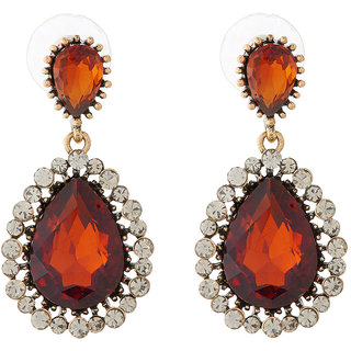 Jazz Jewellery Designer Beautiful Stone CZ Alloy Drop Earrings For Womens