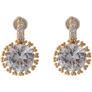 Jazz Jewellery Designer Ad CZ Sparkling Stone Drop Earrings For Womens