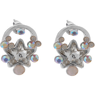 Jazz Jewellery Designer CZ Stone Stud Earrings For Womens