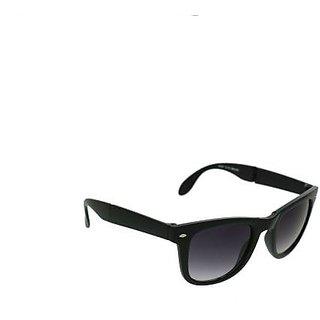 Foldable Wayfarerr Sunglassess with Stylish Frame Black for Boys
