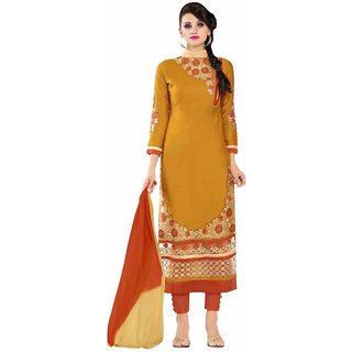Khushi Trendz Cotton Satin Gold Se Stitched Salwar Suit