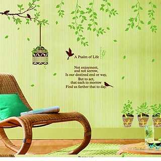 Walltola Pvc Tv Background Removable Wall Sticker (59X47 Inch)