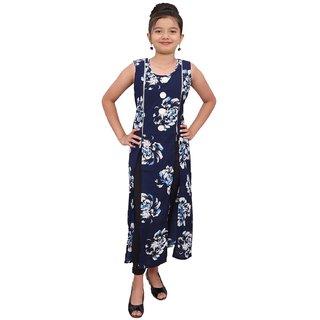 Titrit Navy Blue cape dress without legging