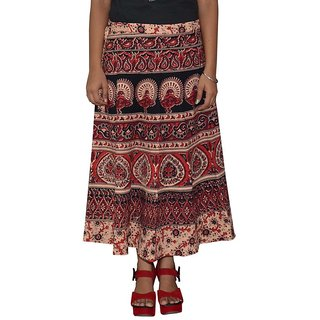 Gurukripa Shopee  Printed Women's Multicolor Wrap Around Skirts GKSWCC-A0169