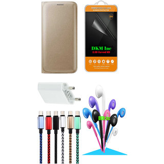 Mega Accessory Combo Pack for Reliance Jio LYF Flame 3  Golden