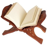 WOODEN HAND CARVED HOLY BOOK STAND,FOR QURAN,BIBLE,GITA,VED ,GURU GRANTH SAHIB SIZE (15 Inch )