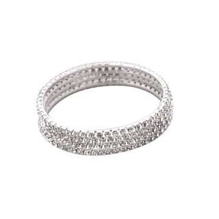 Vook Silver Colour Cubic Zirconia Bangle Set of 4