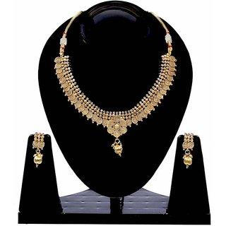 Jewels Gold Alloy Golden Plated Traditional Designer JG-NC9569 Necklace Set