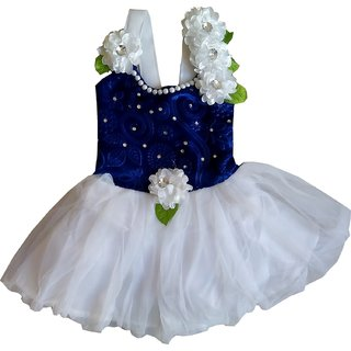 Kids Girls Baby Princess Blue Party Wear