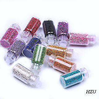 New Arrivals 12 Mini BottleGlitter Beads Manicures Decoration Nail Art Reinstone