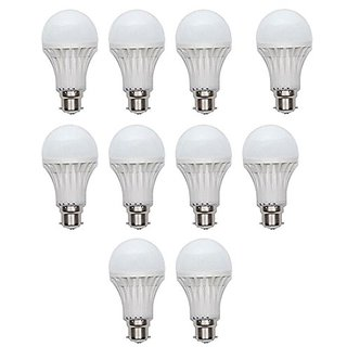 7 Watt LED Bulb(Cool Day Light) 10 Bulb