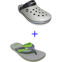 Super Divine Collections - Combo Pack Offer Of Grey Crocs + Grey Sleeper