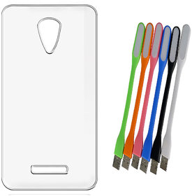 Soft Transparent Back Cover for Xolo One with Flexible USB LED Lamp