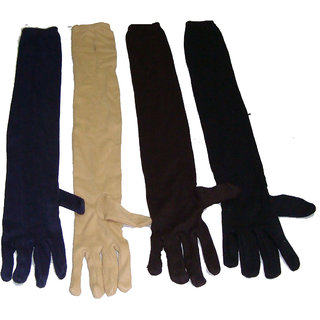 Long Sleeves Skin Protective Unisex Gloves (Set of 4 Pairs)