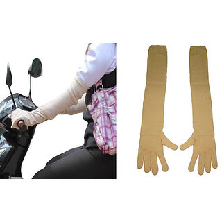 Long Sleeves Skin Protective Unisex Gloves Pair
