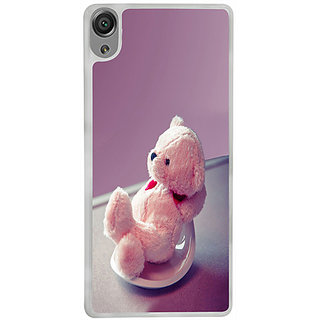 Casotec Cute Teddy Bear Design 2D Printed Hard Back Case Cover for Sony Xperia X - Clear