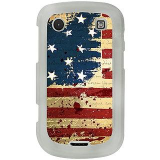 Casotec USA Flag Design 2D Printed Hard Back Case Cover for Blackberry Bold 9900 - Clear