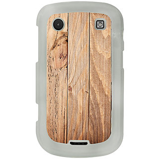 Casotec Wooden Texture Design 2D Printed Hard Back Case Cover for Blackberry Bold 9900 - Clear