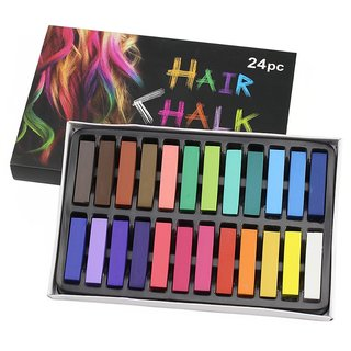 Looks United 24 Colors Non-toxic Temporary Square Hair Dye Washable Chalk Hair Color