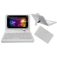 Krishty Enterprises 7 Inch Keyboard For Intex IBuddy IN-7DD01 Tablet (WHITE)