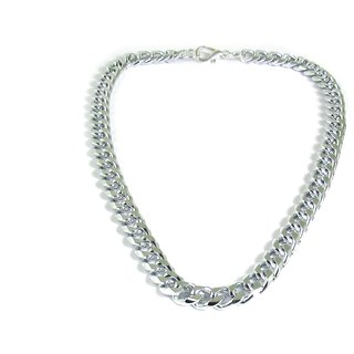 Factorywala Shining  Silver Plated Best Chain/Necklace for Boy/Men