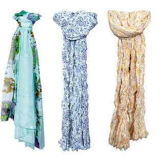 IndiWeaves Women Soft Luxurious Stole for All Seasons (Combo Pack of 3)