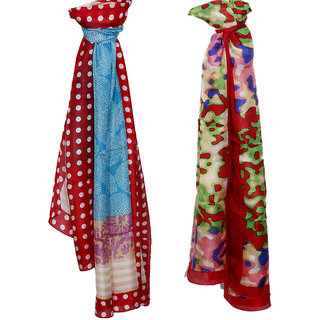 IndiWeaves Women Soft Luxurious Stole for All Seasons (Combo Pack of 2)