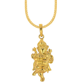 Spargz dancing ganesha festive wear brass gold pendant for men spargz dancing ganesha festive wear brass gold pendant for menwomen aip 127 mozeypictures