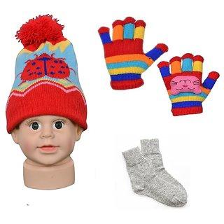 9bcaee528e9 Buy Baby Woolen Gloves + Cap + Socks Online   ₹399 from ShopClues