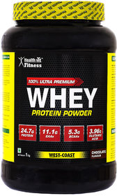 Healthvit Fitness Raw Whey Protein Concentrate 80 1kg Unflavoured 24 4g