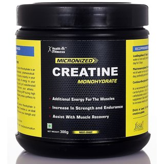 Healthvit Micronized Creatine Powder - 300 G (Unflavored)