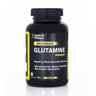 Healthvit Glutamine Powder - 100 G (Unflavored)